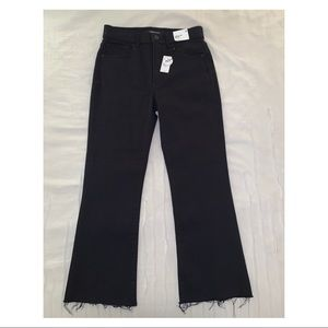 NWT Express Hi-Waisted Black Cropped Flare Jeans